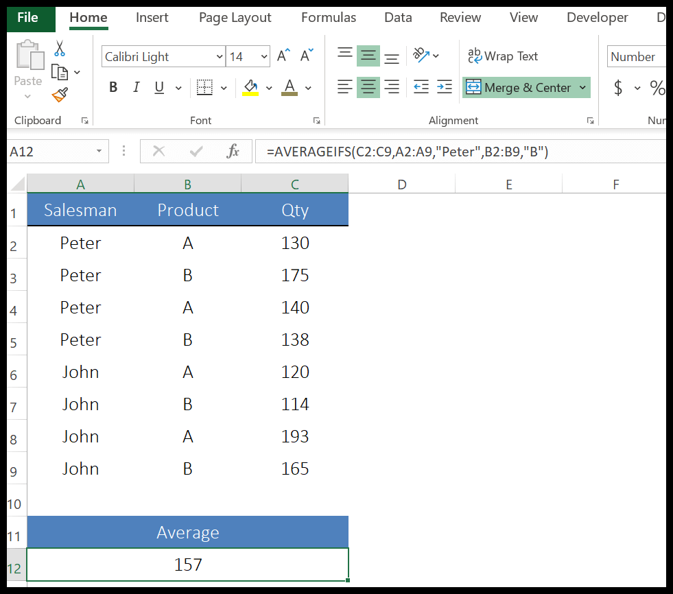 How to use AVERAGEIFS Function in Excel (Example + Sample File)