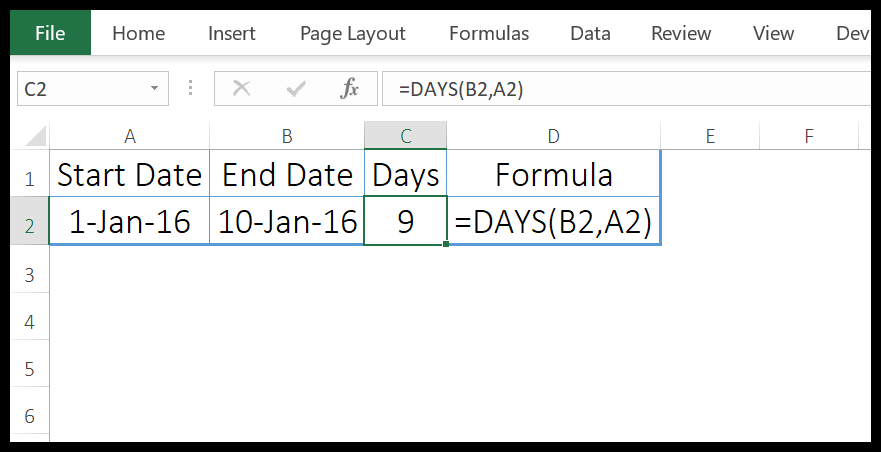 excel-days-function-example-1