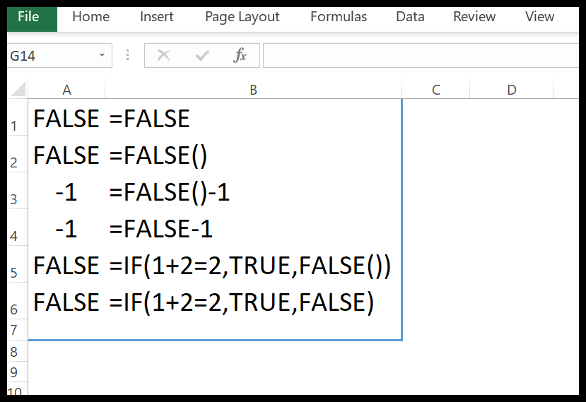 excel-false-function-example-1