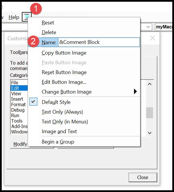 11-vba-comment-shortcut-rename