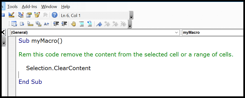 vba-comment-with-rem