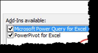 power query tips tricks tick mark option