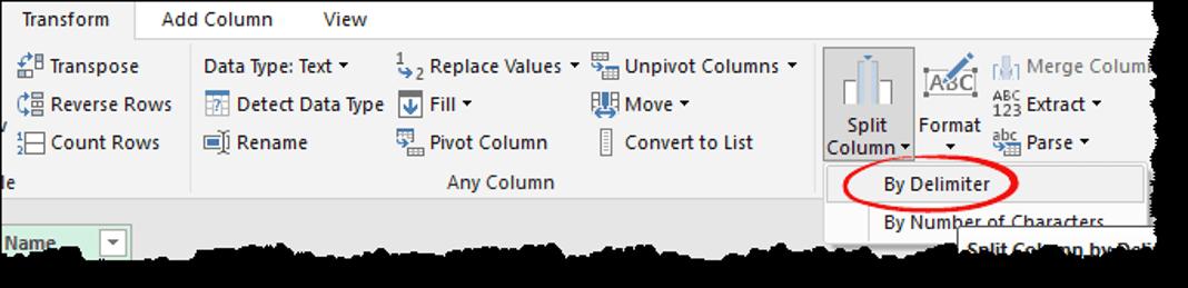 excel power query tips tricks split column