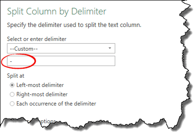 excel power query tips tricks split column add delimiter