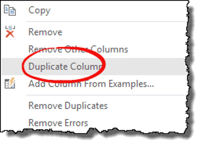 excel power query tips tricks duplicate column