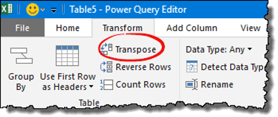 excel power query tips tricks transpose