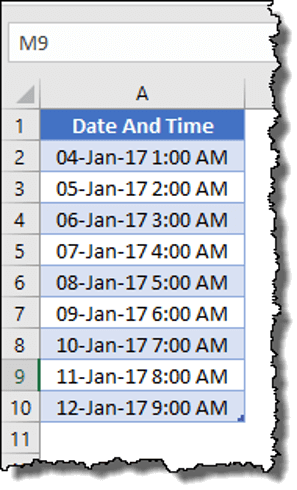 power query date time only