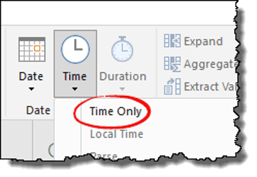 power query tips tricks time only