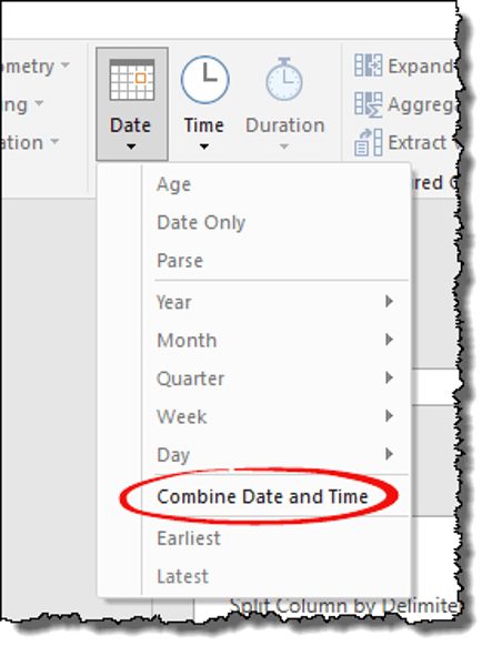 power query tips tricks combine date time option