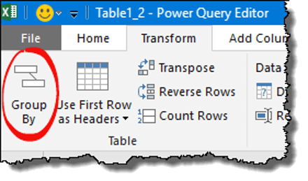 power query tips tricks group by button