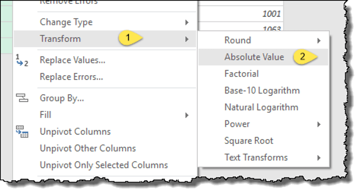 power query tips tricks remove negative
