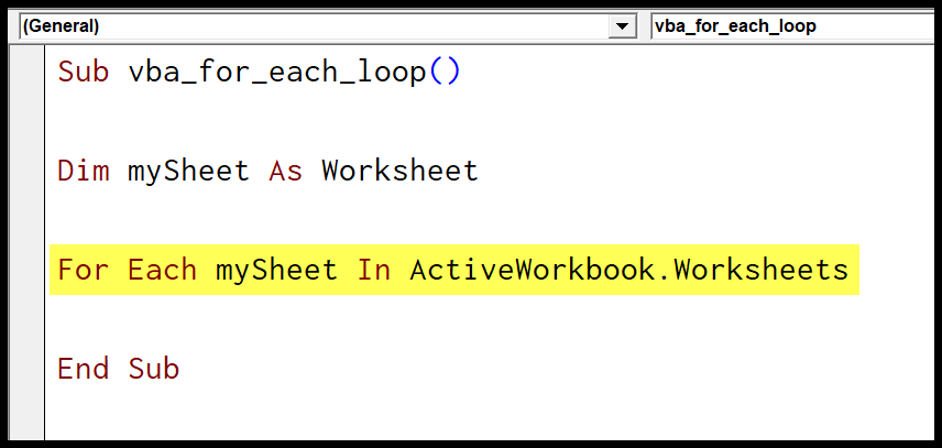 11-for-each-mysheet-active-workbook-worsheets