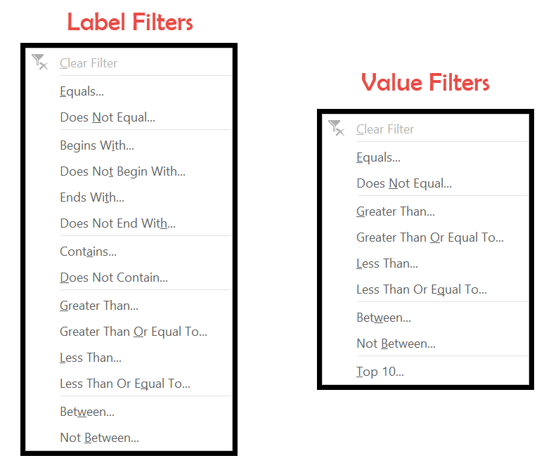 label-and-value-filters
